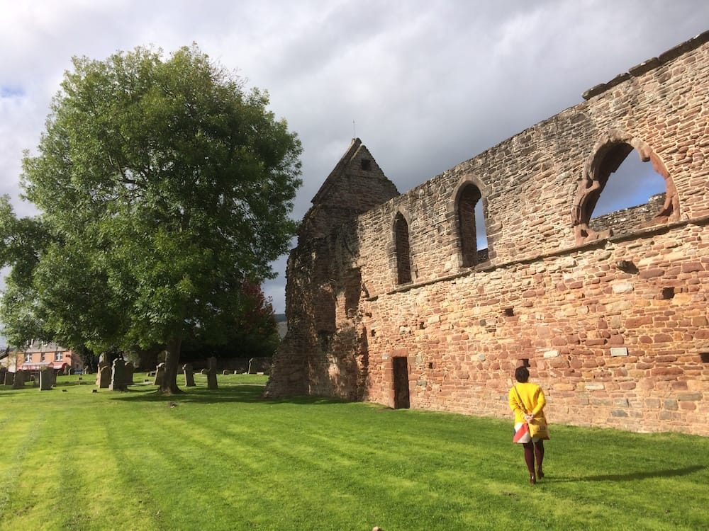 The priory church at Beauly, the outter wall