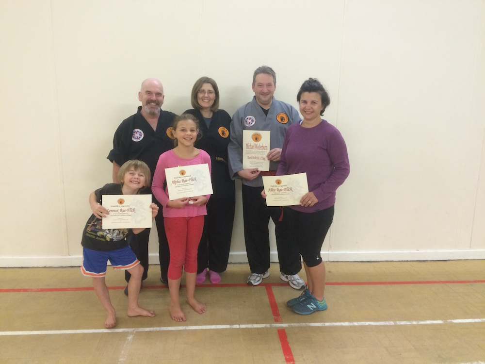 Alice and the kids with their certificates, and the CSMA team