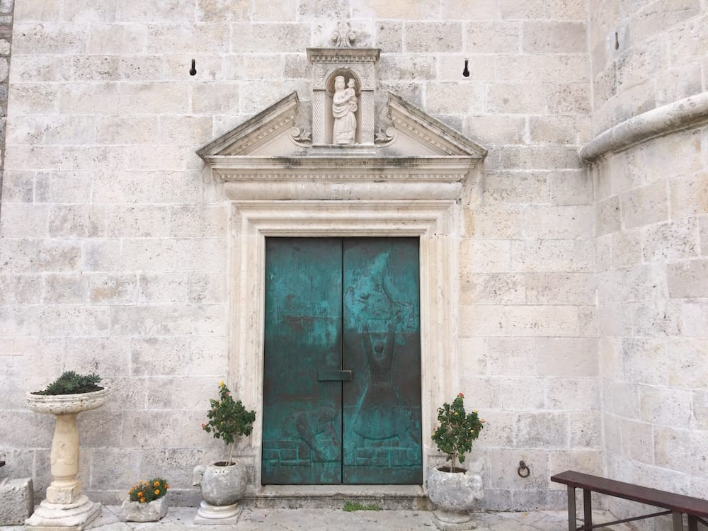 The front door of The Church of Our Lady of the Rocks is now my favourite door in the world