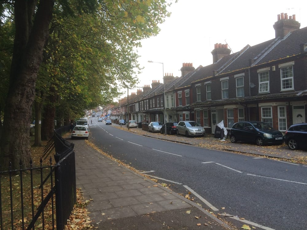 The street outside the park, Luton