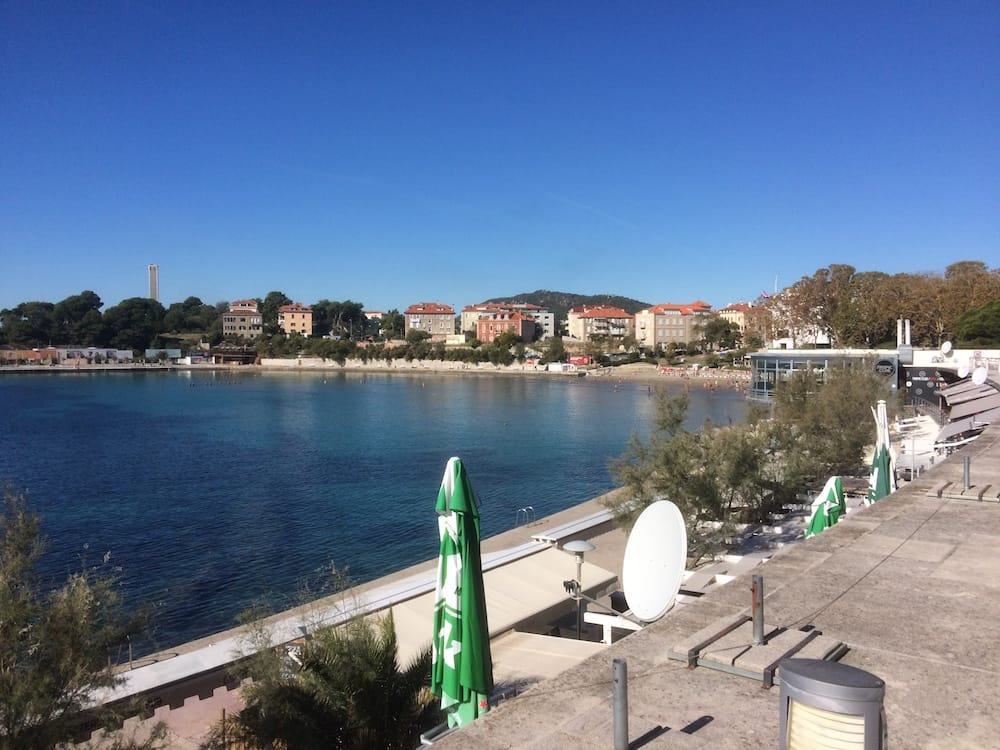 View of Bacvice Beach in Split from the Tropic Club