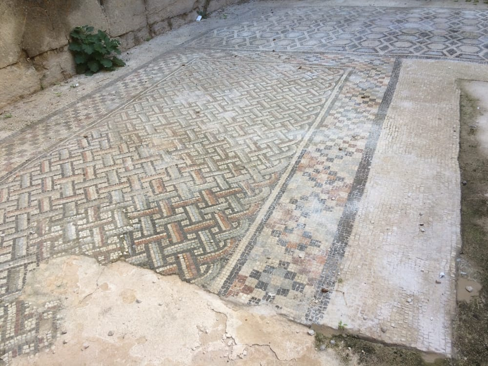 A beautiful mosaic floor at Split's Diocletian Palace