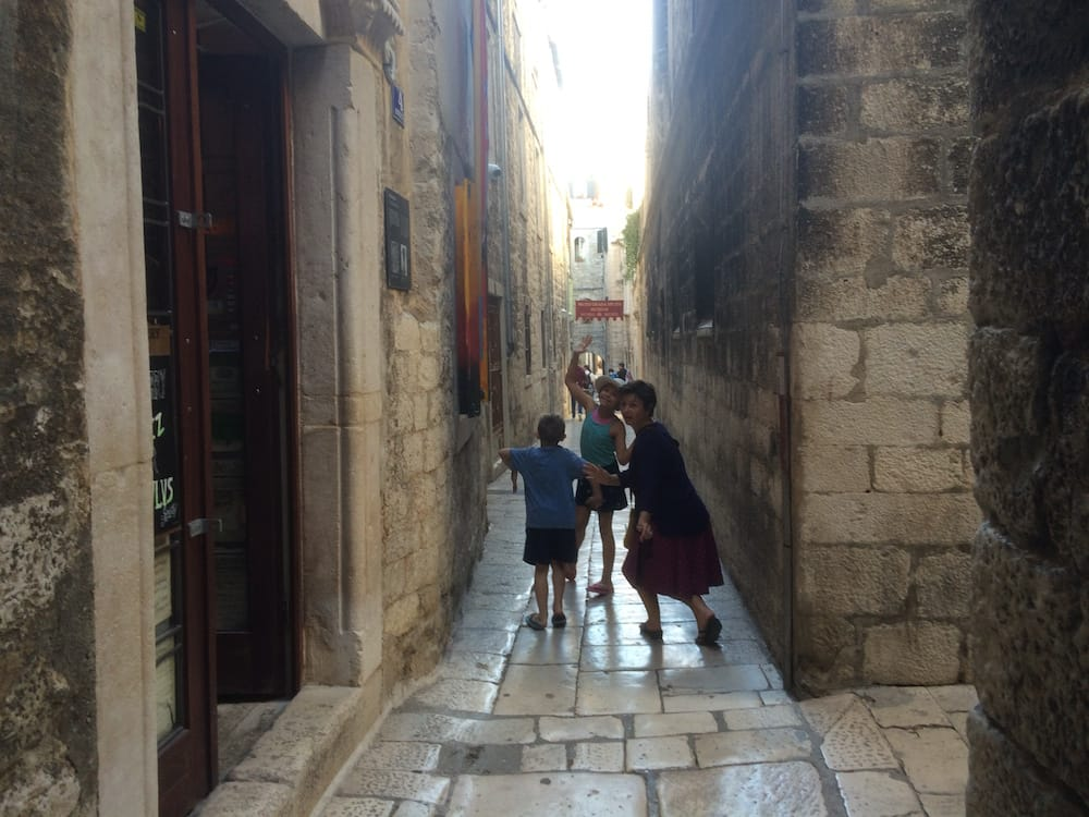 Wandering around Diocletian and Split Old Town