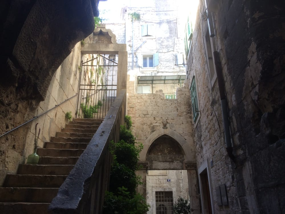 Split's narrow alleys open up to beautiful stairs like these