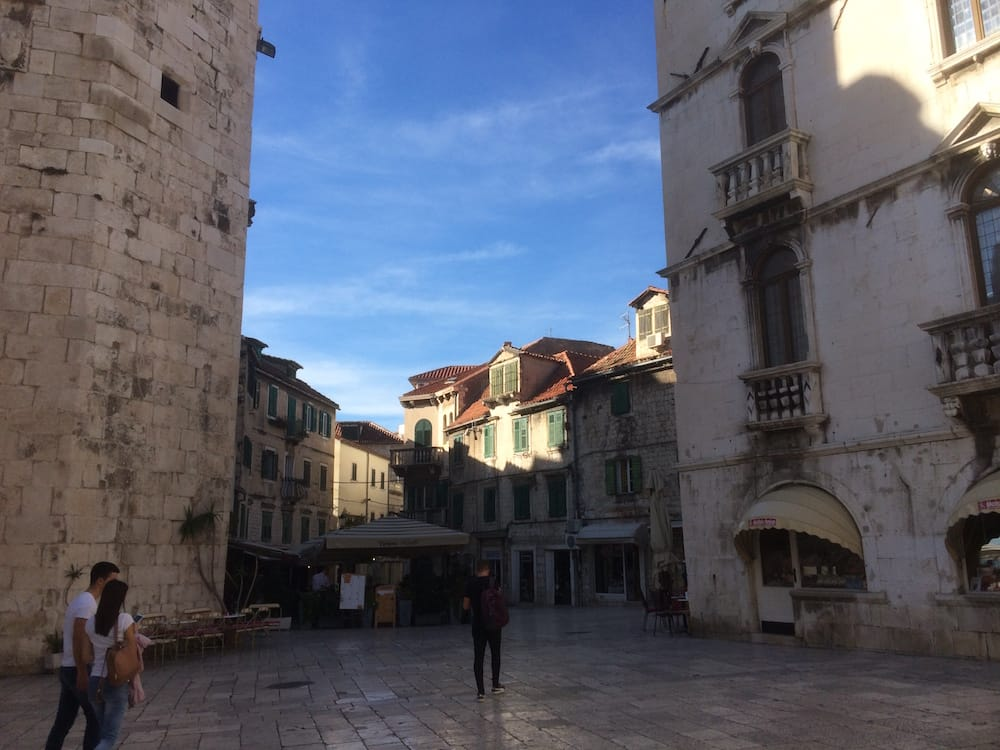 The beautiful square at the southern Diocletian entrance, Split