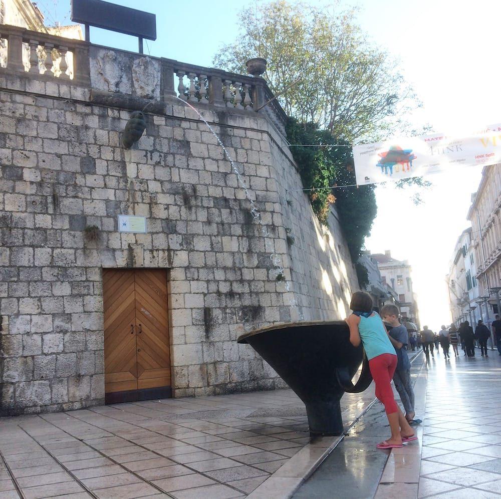 Pirija Fountain, north of the Trg Republika