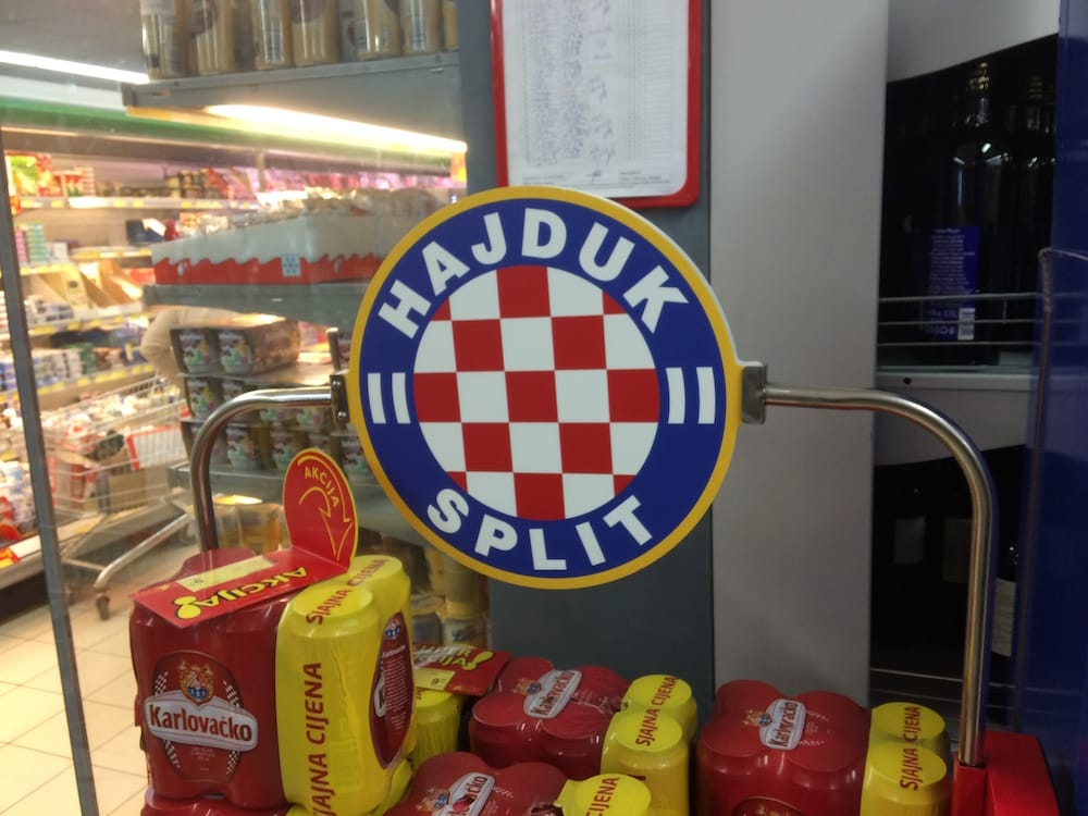 You can't live in Split and ignore the local football team Hajduk, their fans are legendary