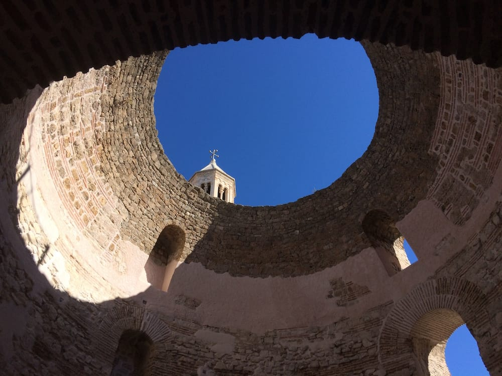 An open roofed building at the Diocletian