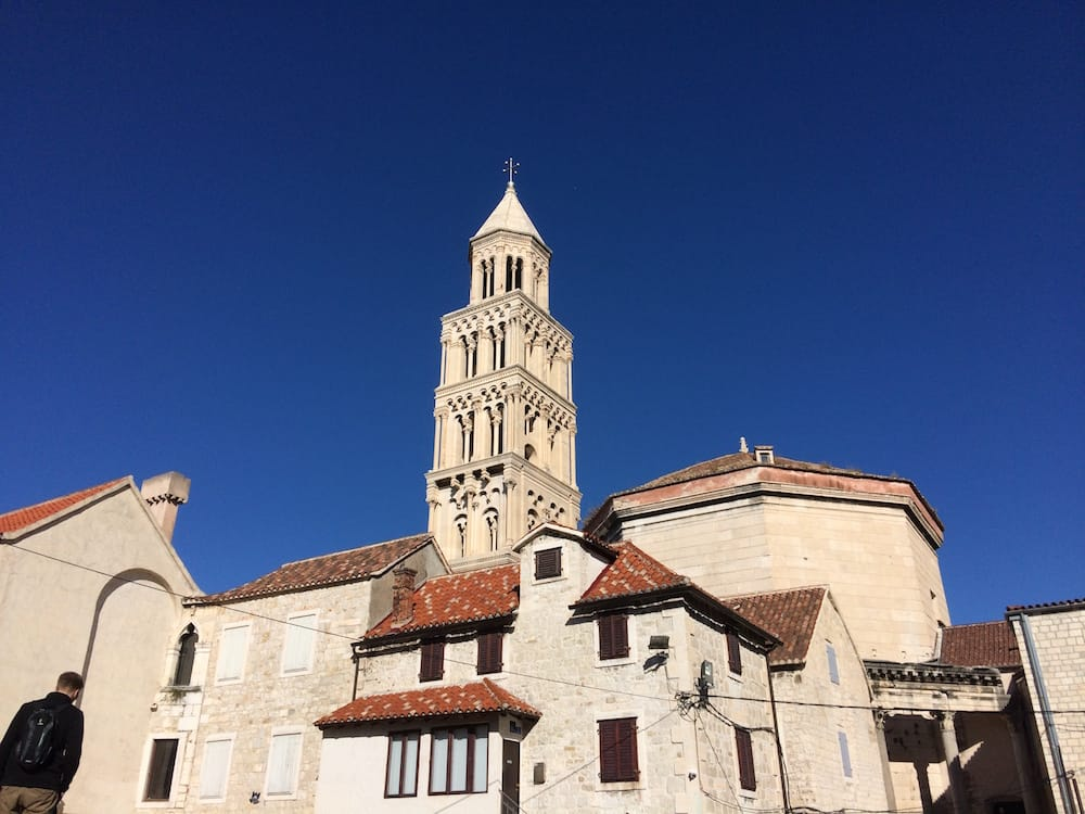 The bell tower at the Diocletian