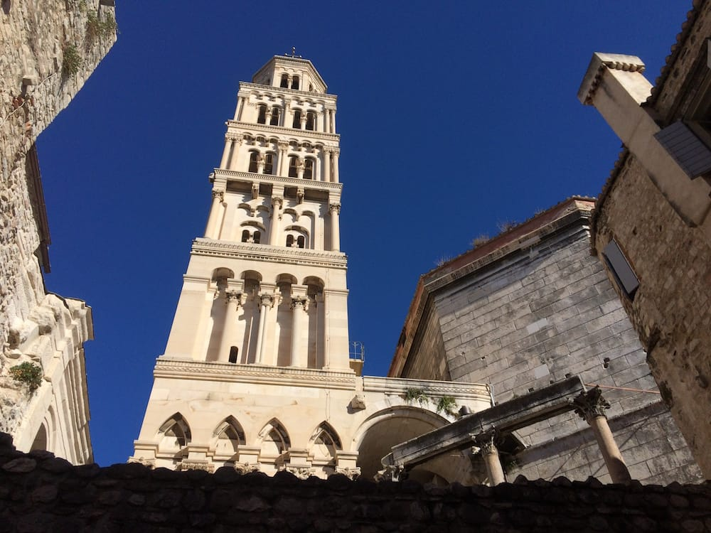 Another view of the bell tower at the Diocletian