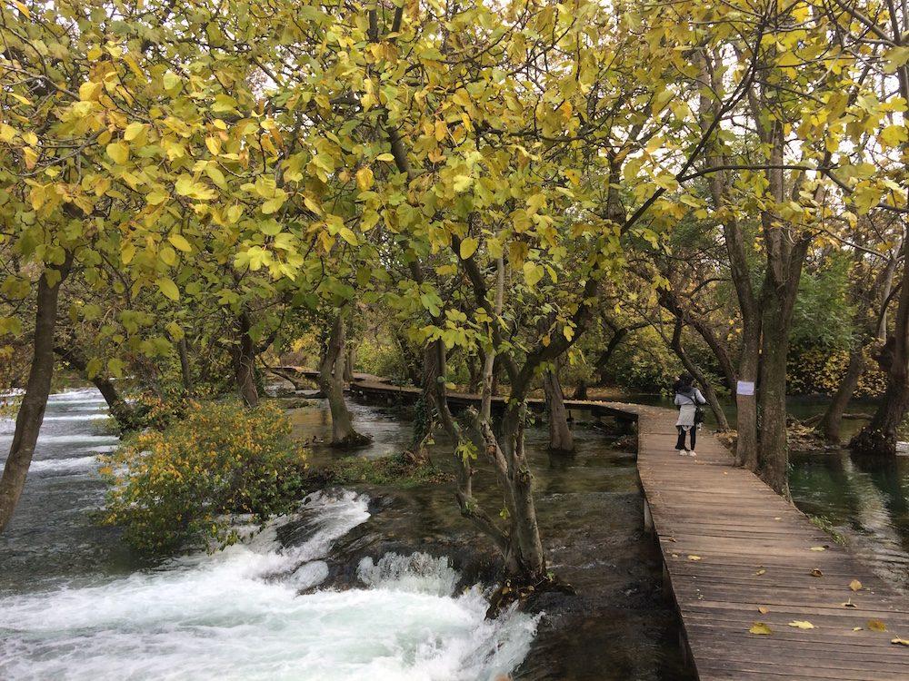The start of the Krka Falls walk