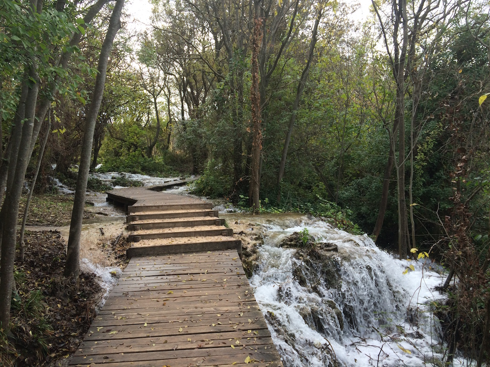 The water runs wherever there's room at Krka Falls