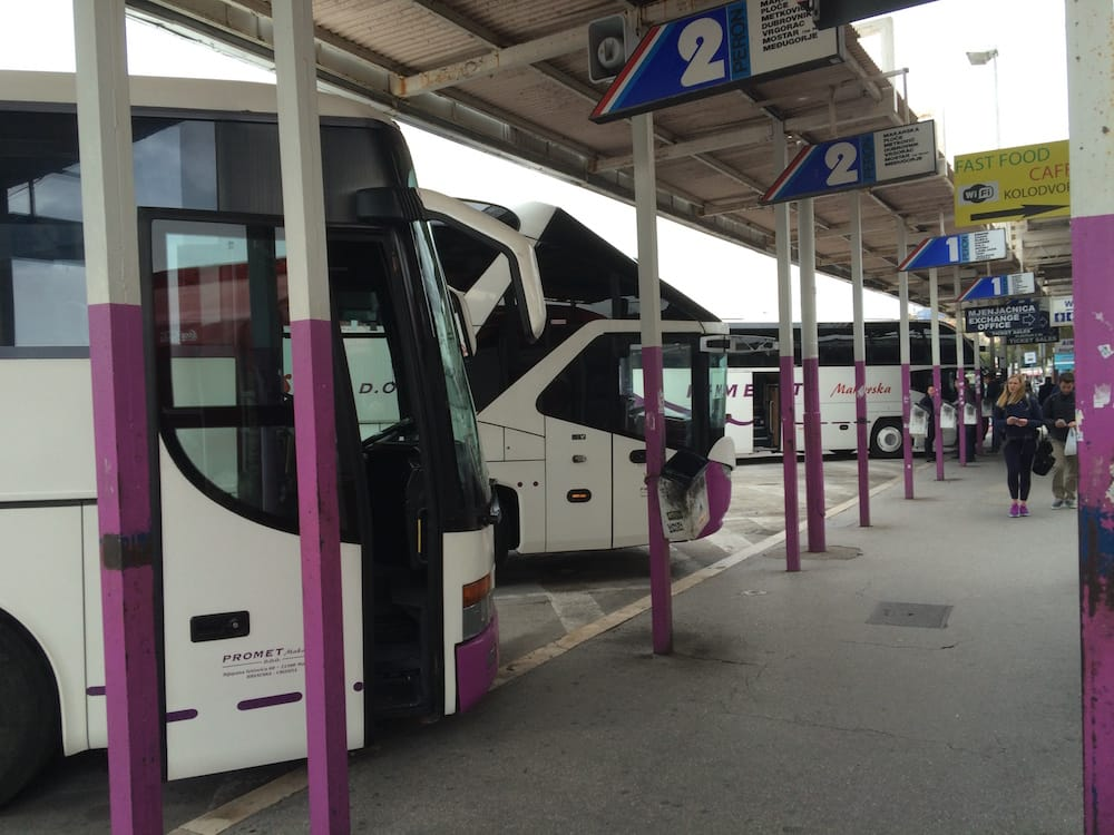 The Split Bus station has at least 12 different bus bays, ours is right here in bay 2