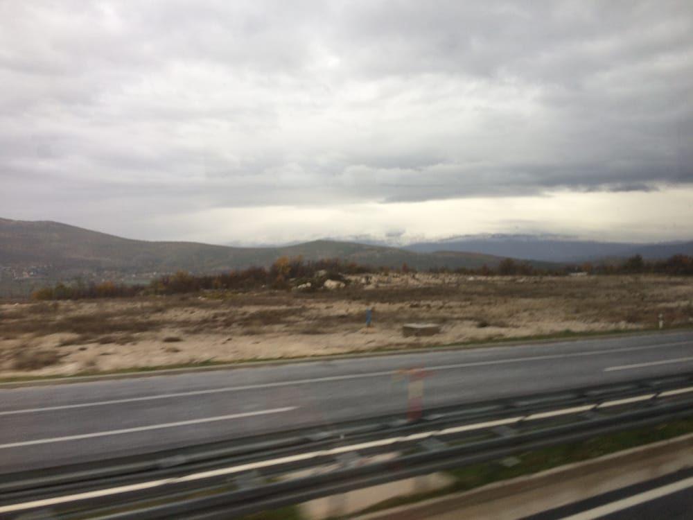 The road out of Split, Croatia, desolately beautiful