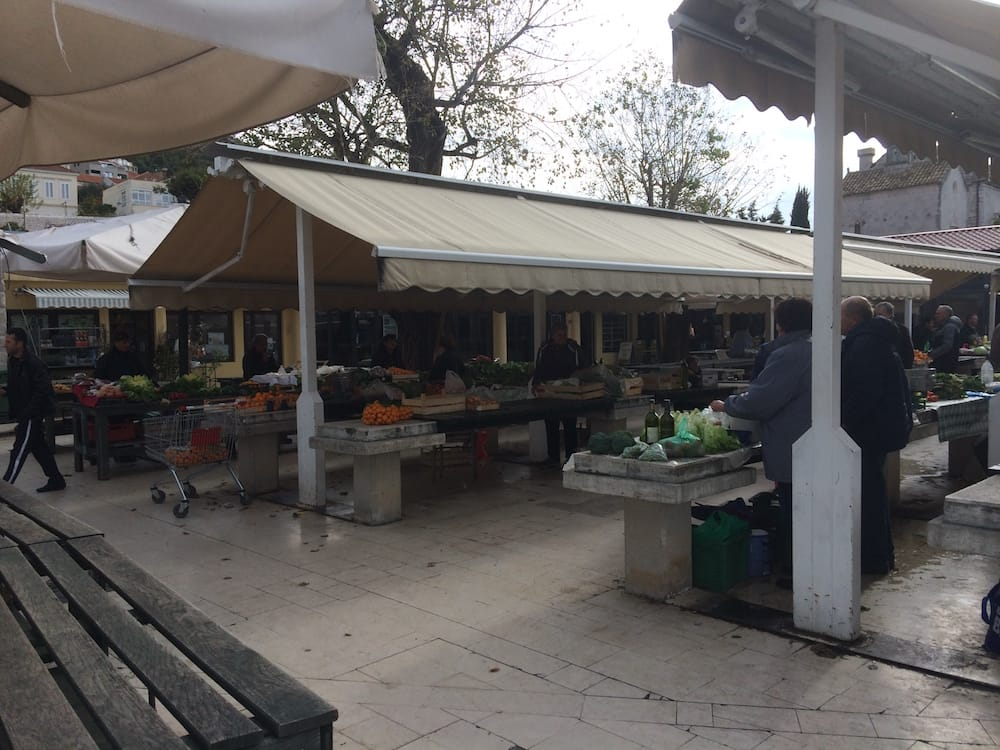There was an outdoor farmer's market just outside our door in Dubrovnik