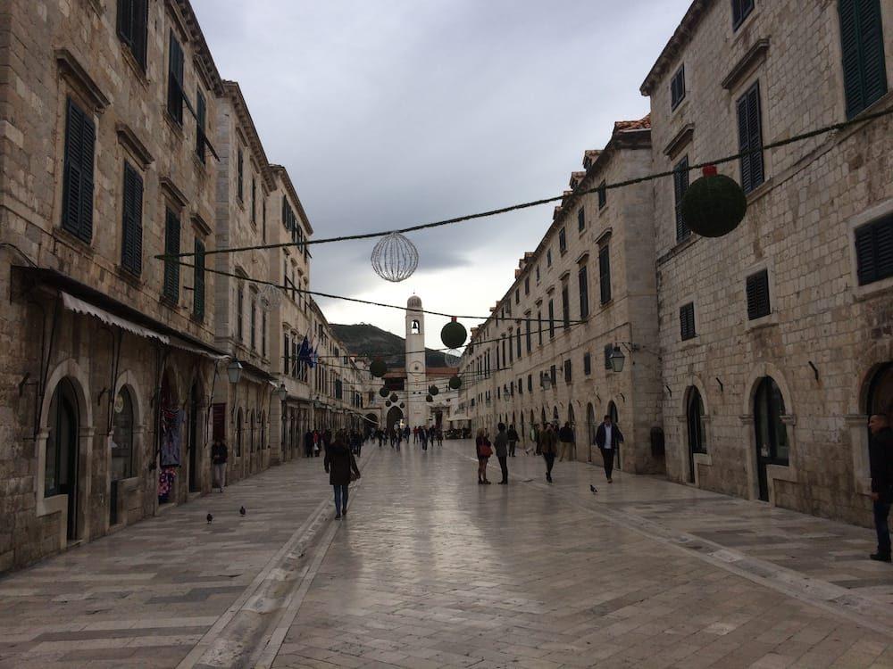 Dubrovnik Old Town Citadel's main street