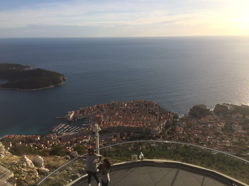 A great view of Dubrovnik from the top of the mountain