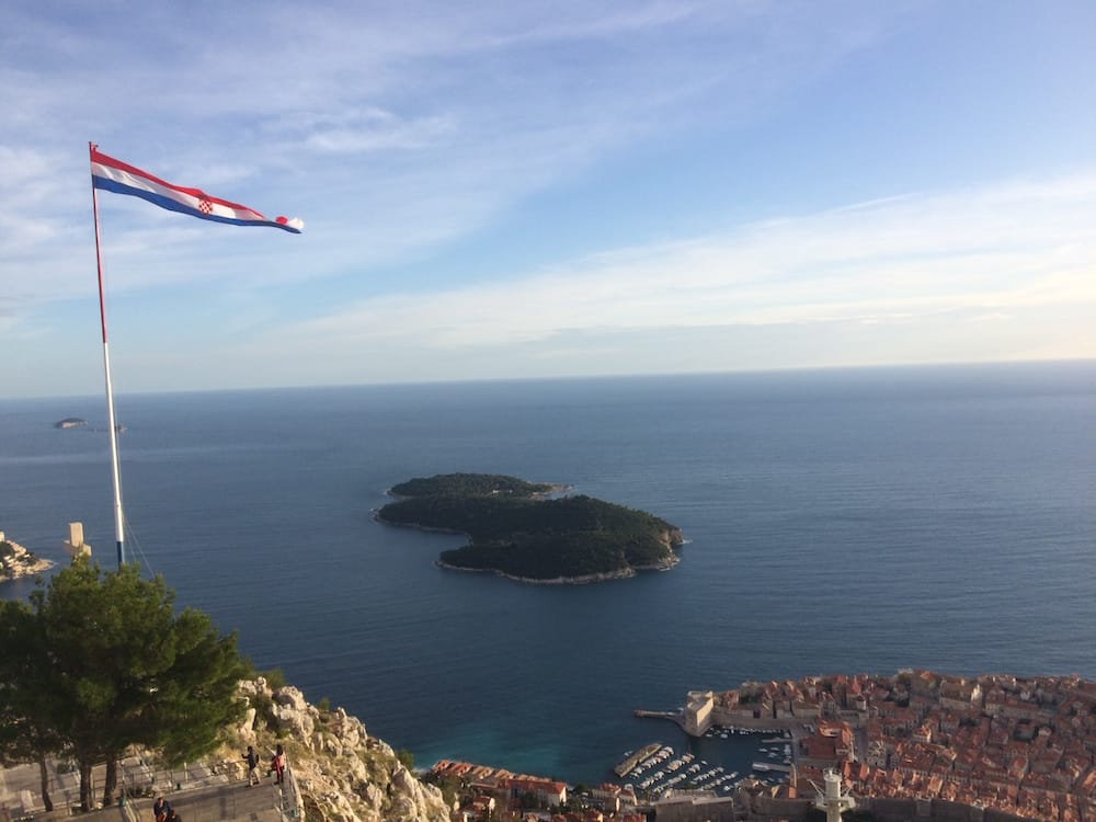 Looking left at the top of the mountain, Dubrovnik
