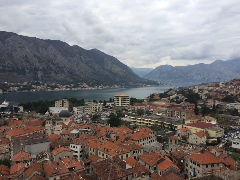 Looking toward the mouth of the Bay of Kotor