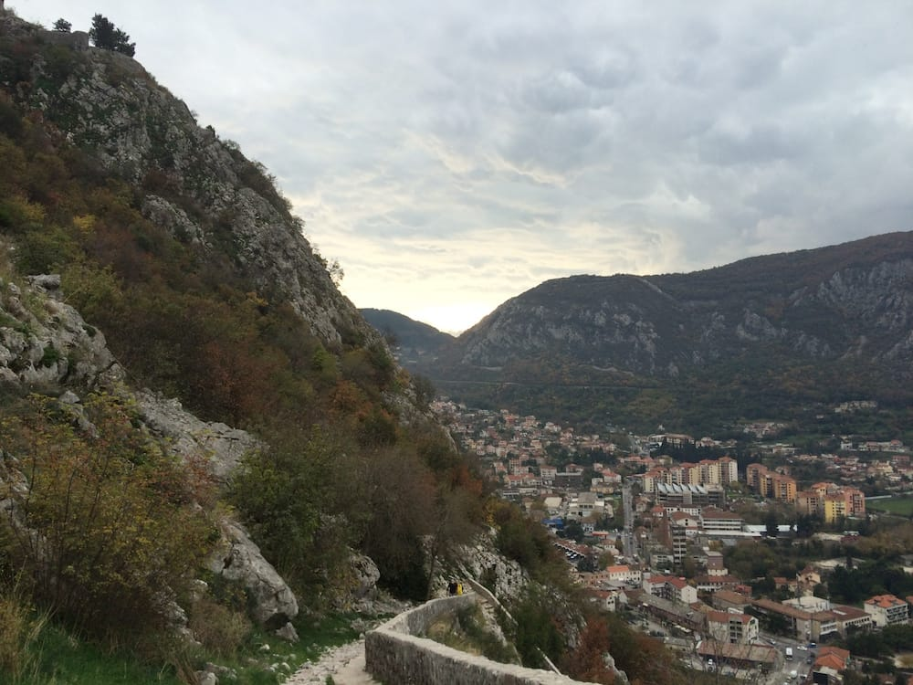 The Bay of Kotor as seen just before reaching the Church of Our Lady of Remedy