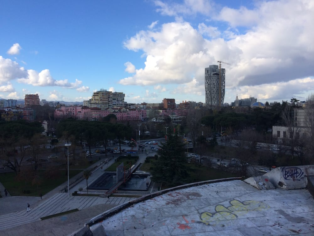 The view from the top of the Pyramid, Tirana