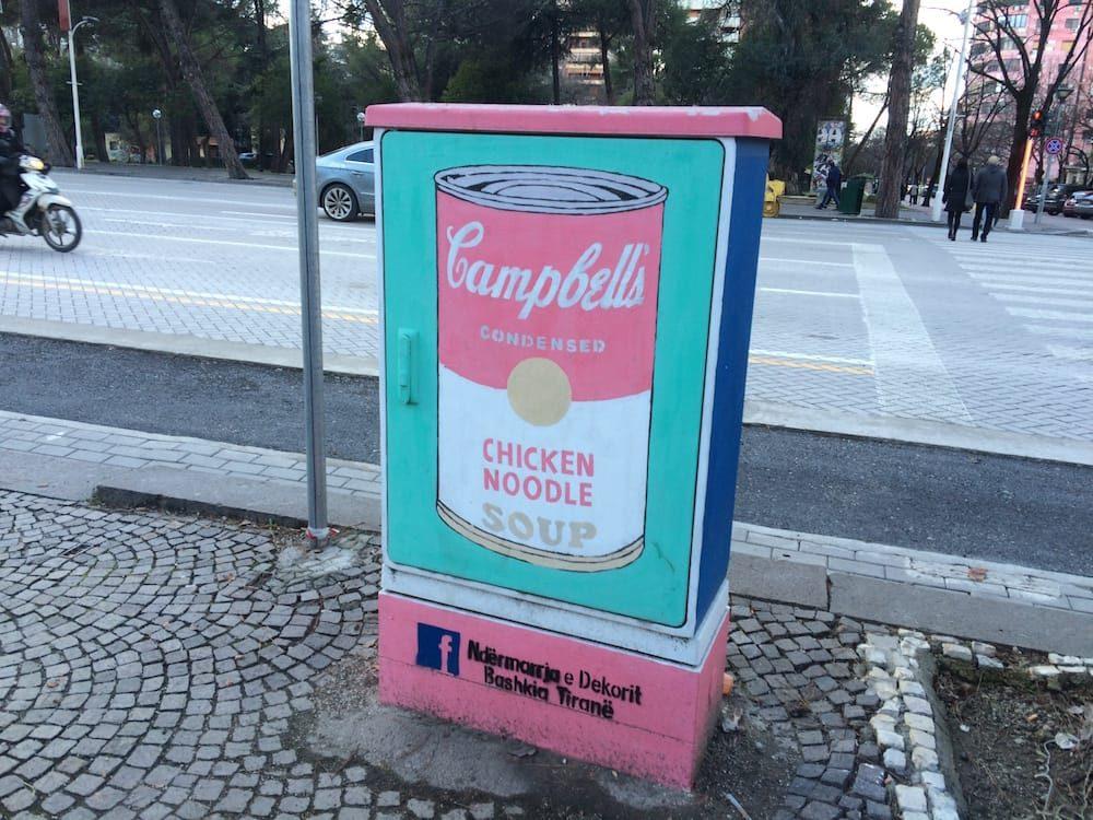 More Tirana street art, a la Warhol