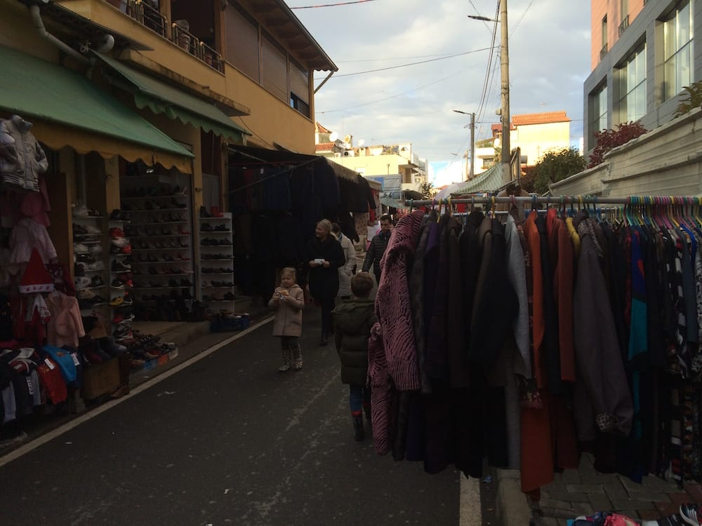 We stumbled across a street bazaar on the way back home