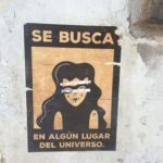 "A spanish poster in Florence, ""In search of: Some universal place"""