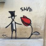 Exit/Enter, this artist uses the streets as a canvas, Florence is reluctant to risk itself on new artists, man in top hat saves love