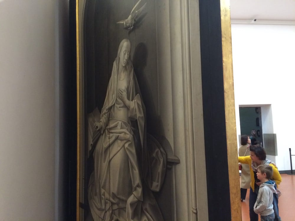 Uffizi, even the backs of paintings are interesting, this is a practice before the real thing, only black and white
