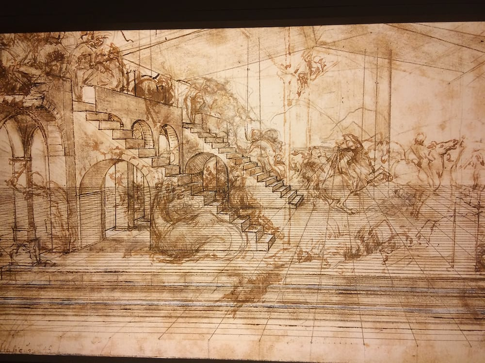 da Vinci's sketches are works of art