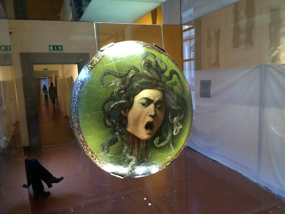 Medusa by Caravaggio is a sight to behold, in a strange place surrounded by construction