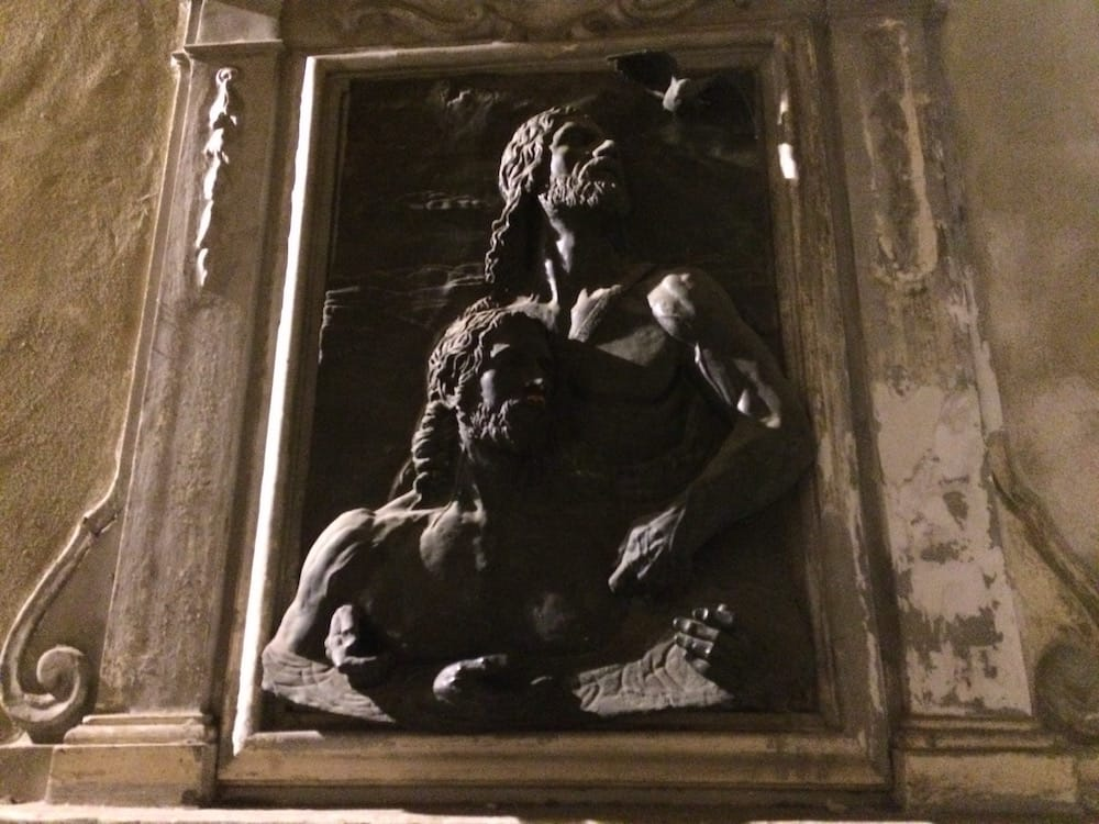 On the walk home from Uffizi we usually walk past this street art bas relief; exquisite!