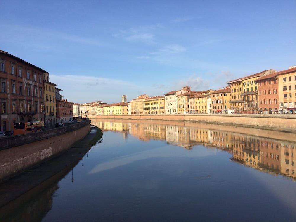 The river Arno runs through Pisa too