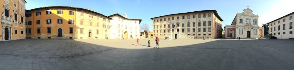 Piazza dei Cavalieri on the way to Pisa, has a huge statue of Cosimo Medici I