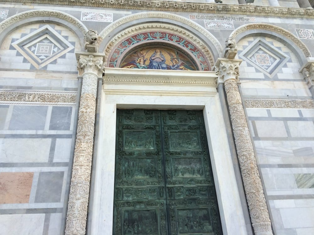 The door to the church at PIsa