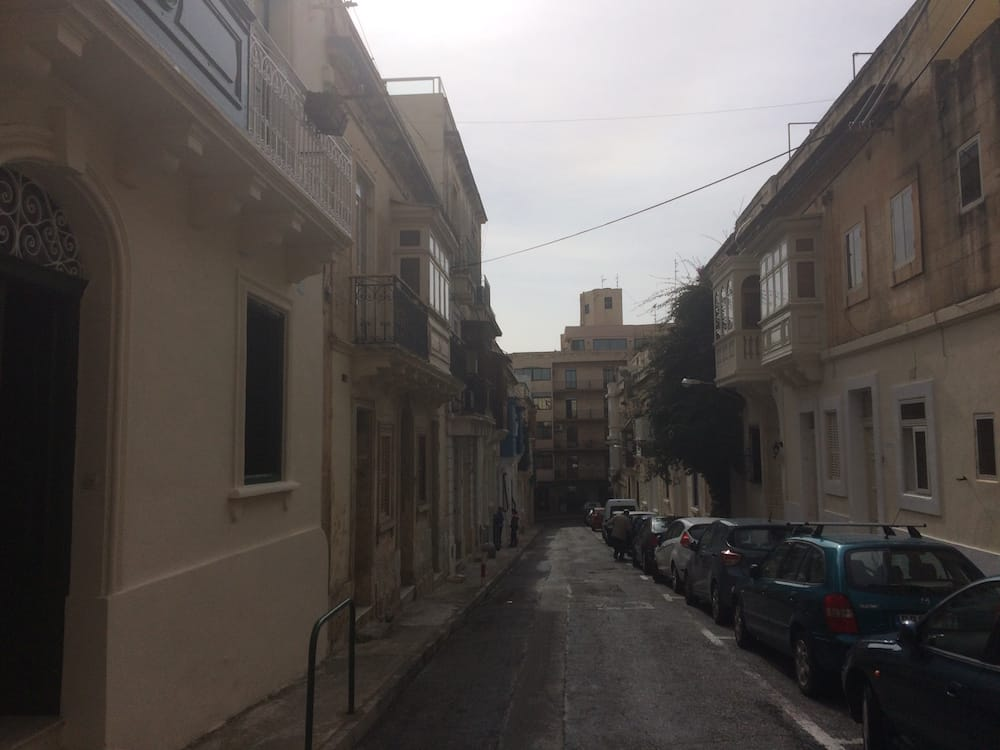 Our street, Triq il-Freres, our place is on the left