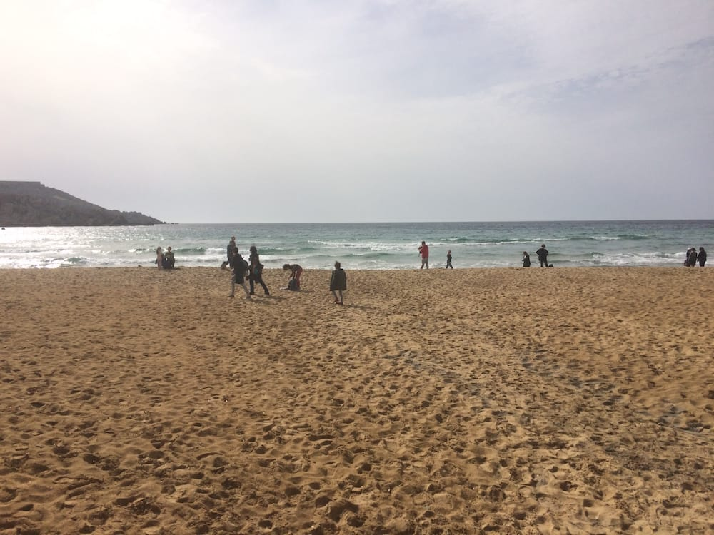 Golden Bay, Malta, was almost warm enough to take off your coat