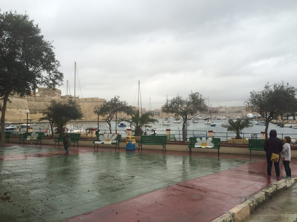 The playground at Kalkara, on the southern side of Valletta