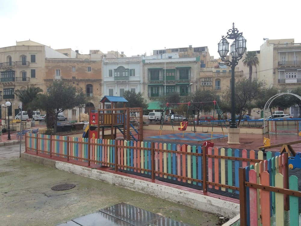 The playground at Kalkara, on the southern side of Valletta, it was huge!