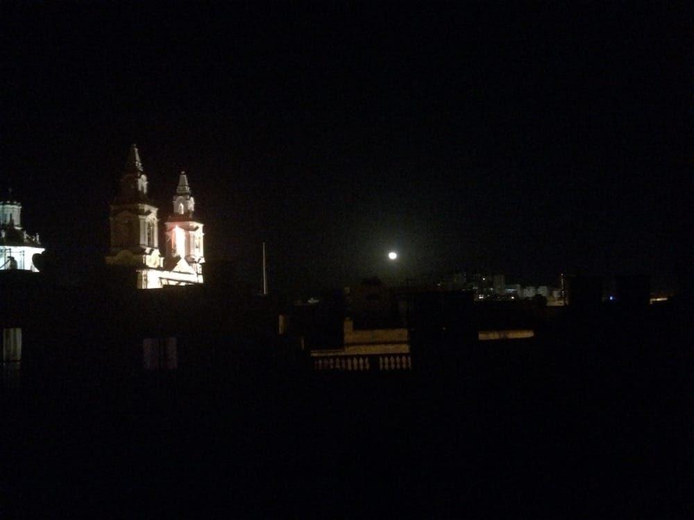The church nearby at night, Parish Church of Sacro Cuor
