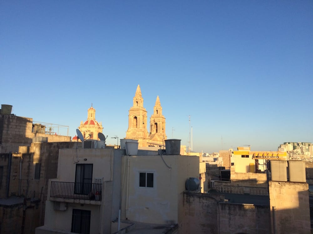 The view from our balcony at our apartment, the church bells rang at random times