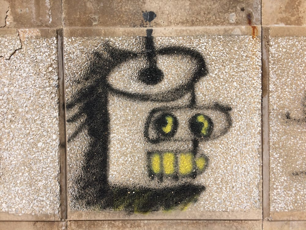 Some cool graffiti on the Valletta side of Sliema