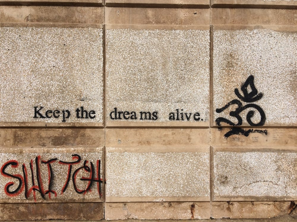 Some cool graffiti on the Valletta side of Sliema, words to live by