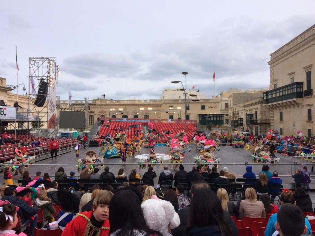 The Valletta Carnivale is groups of kids dressed up after a year of preparation