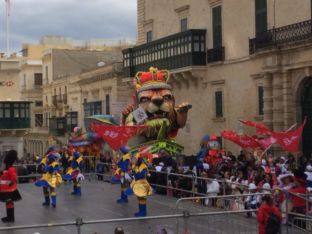 The floats at Valletta Carnivale are amazing, and tall!