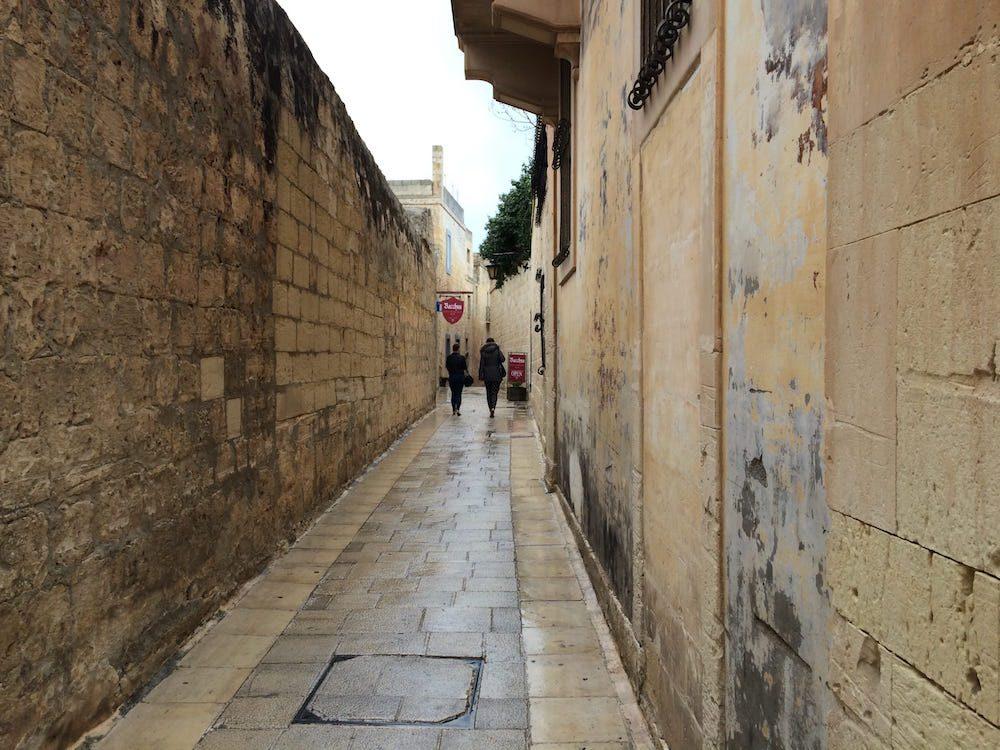 I love the cobblestone streets of Mdina