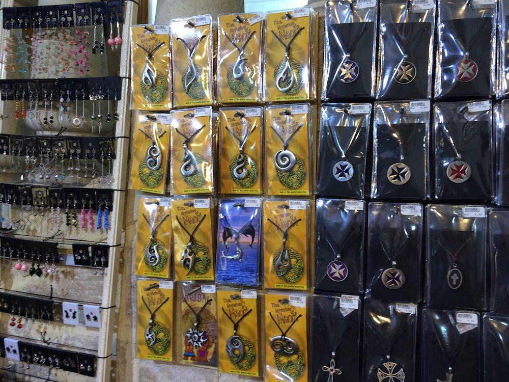 The Mdina gift shop had Maori jewelry!