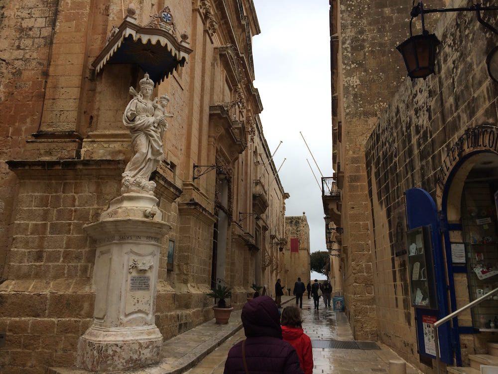 A church niche and alley in Mdina