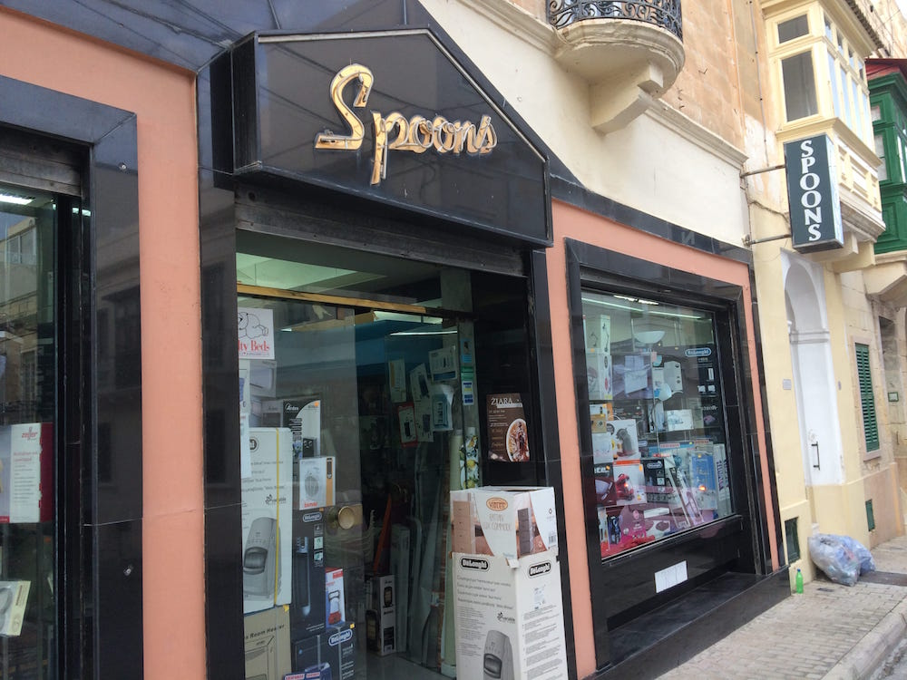 Spoons, our local kitchen good store where we bought our italian coffee pot